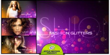 دانلود پروژه آماده نرم افزار Apple Motion (اپل موشن)- Fashion Glitters