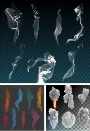 دانلود مجموعه ابر های ایزوله شده مخصوص طراحان گرافیکی