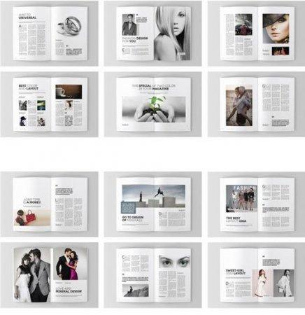 دانلود مجموعه طرح های آماده مجله مخصوص نرم افزار Adobe Indesign
