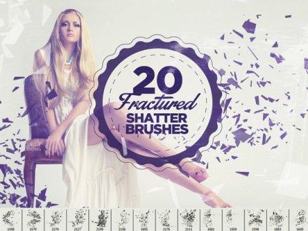 دانلود براش زیبای فتوشاپ مخصوص طراحی روی عکس-Fractured Shatter