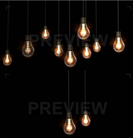 دانلود فوتیج زیبای خاموش و روشن شدن لامپ ها