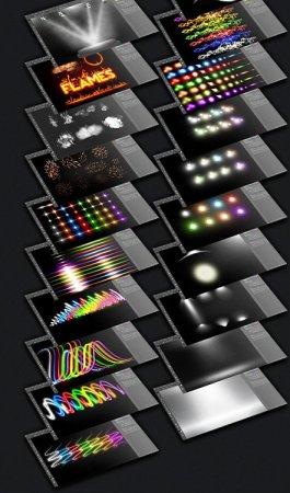 مجموعه کیت حرفه ای افکت های نوری مختلف مخصوص فتوشاپ