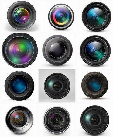 دانلود مجموعه تصاویر وکتور با موضوع لنز دوربین عکاسی