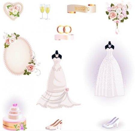 دانلود مجموعه طرح های آماده وکتور با موضوع عروسی
