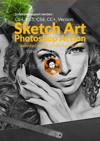 دانلود اکشن هنری فتوشاپ مخصوص تبدیل عکس به نقاشی