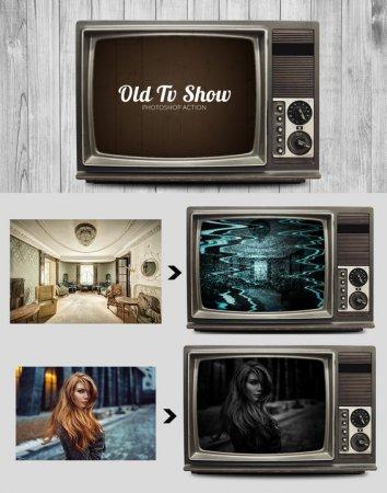 دانلود تمپلیت آماده تلویزیون قدیمی مخصوص فتوشاپ