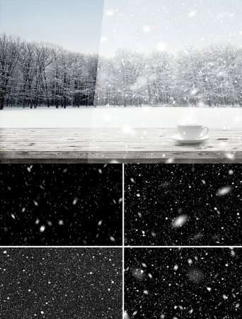 دانلود افکت آماده بارش برف مخصوص عکس های شما