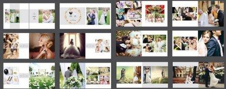دانلود تمپلیت آماده فتوشاپ مخصوص طراحی آلبوم عکس عروس و داماد
