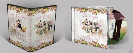دانلود تمپلیت آماده کاور,جلد سی دی و دی وی دی مخصوص عروس و داماد