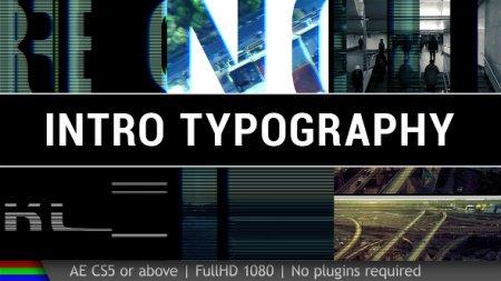 دانلود پروژه متنی افتر افکت با نام Intro Typography