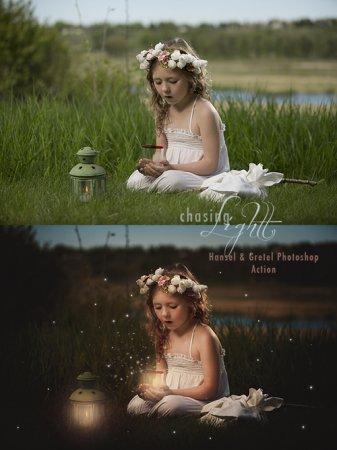 دانلود اکشن زیبای فتوشاپ مخصوص تغییر رنگ عکس Hansel and Gretel