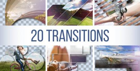 دانلود مجموعه 20 ترانزیشن زیبا و آماده مخصوص افتر افکت