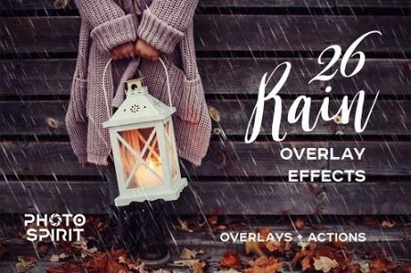 افکت آماده باران برای ادیت عکس فتوشاپ