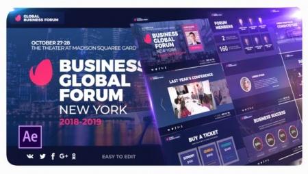 دانلود پروژه افتر افکت تیزر تبلیغاتی Business Promo