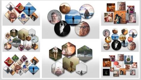 دانلود فریم و تمپلیت عکس فتوشاپ Overlapping