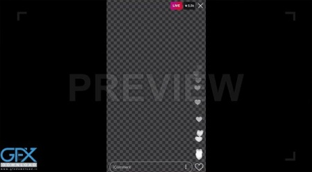 فوتیج ویدئویی Instagram Live Video Overlay